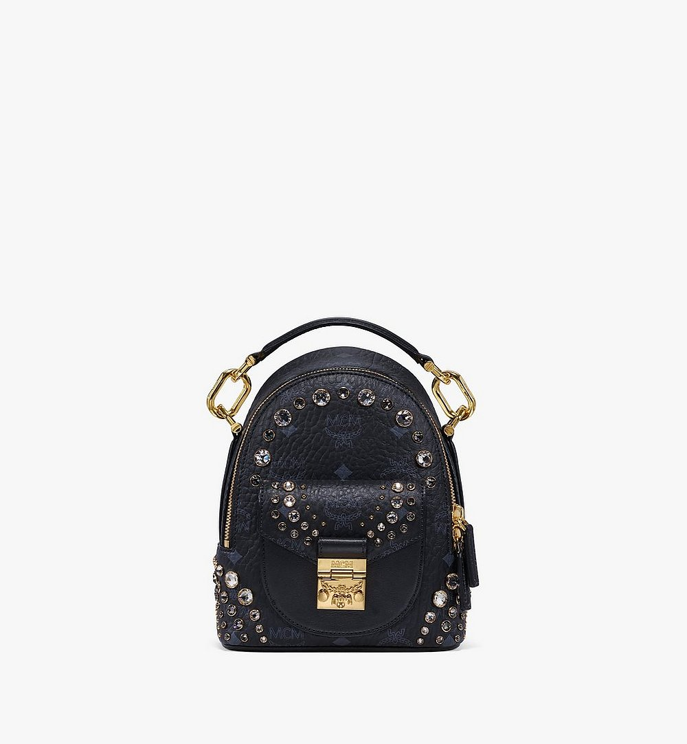 MCM Backpack in Crystal Visetos Black MWKBSVI01BK001 Alternate View 1