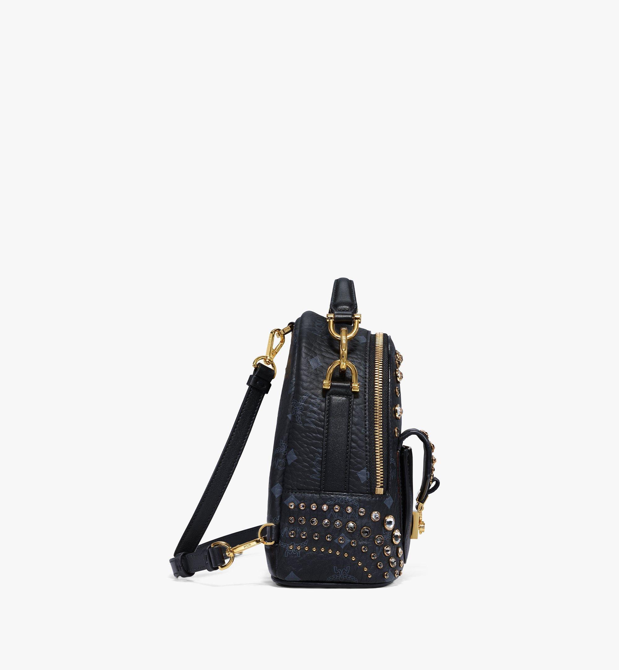 MCM Backpack in Crystal Visetos Black MWKBSVI01BK001 Alternate View 1