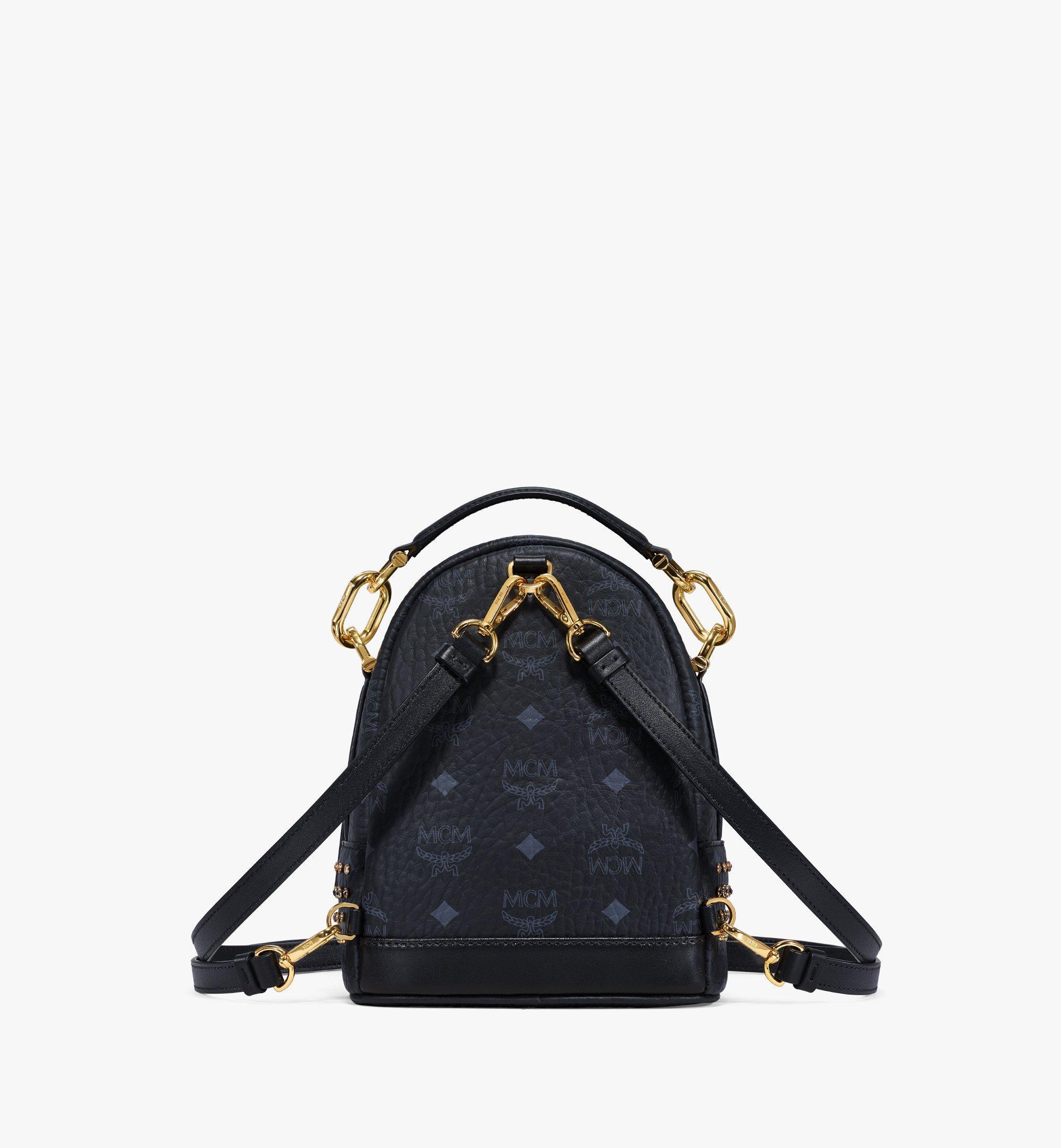 MCM Backpack in Crystal Visetos Black MWKBSVI01BK001 Alternate View 3