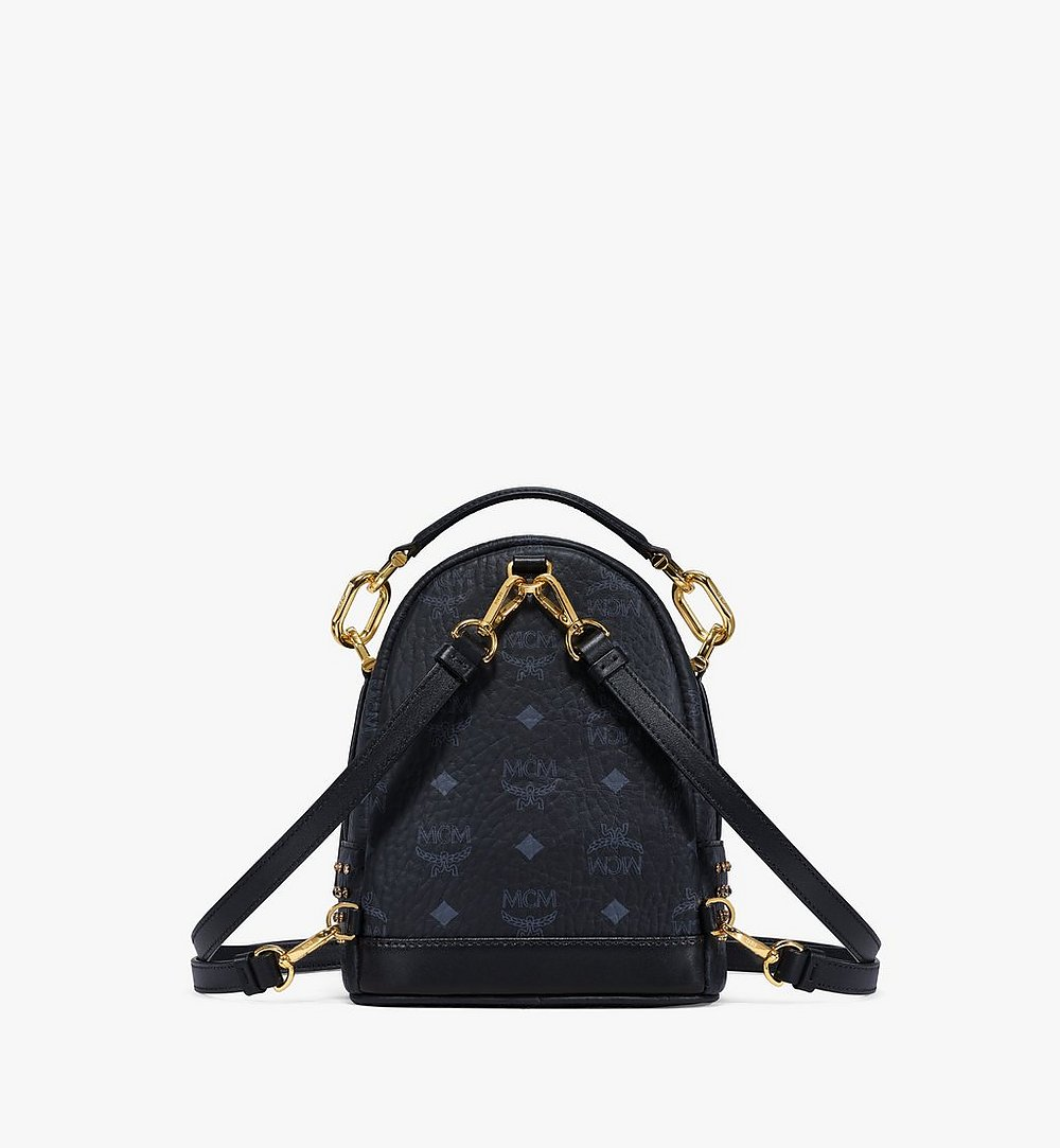 MCM Backpack in Crystal Visetos Black MWKBSVI01BK001 Alternate View 3