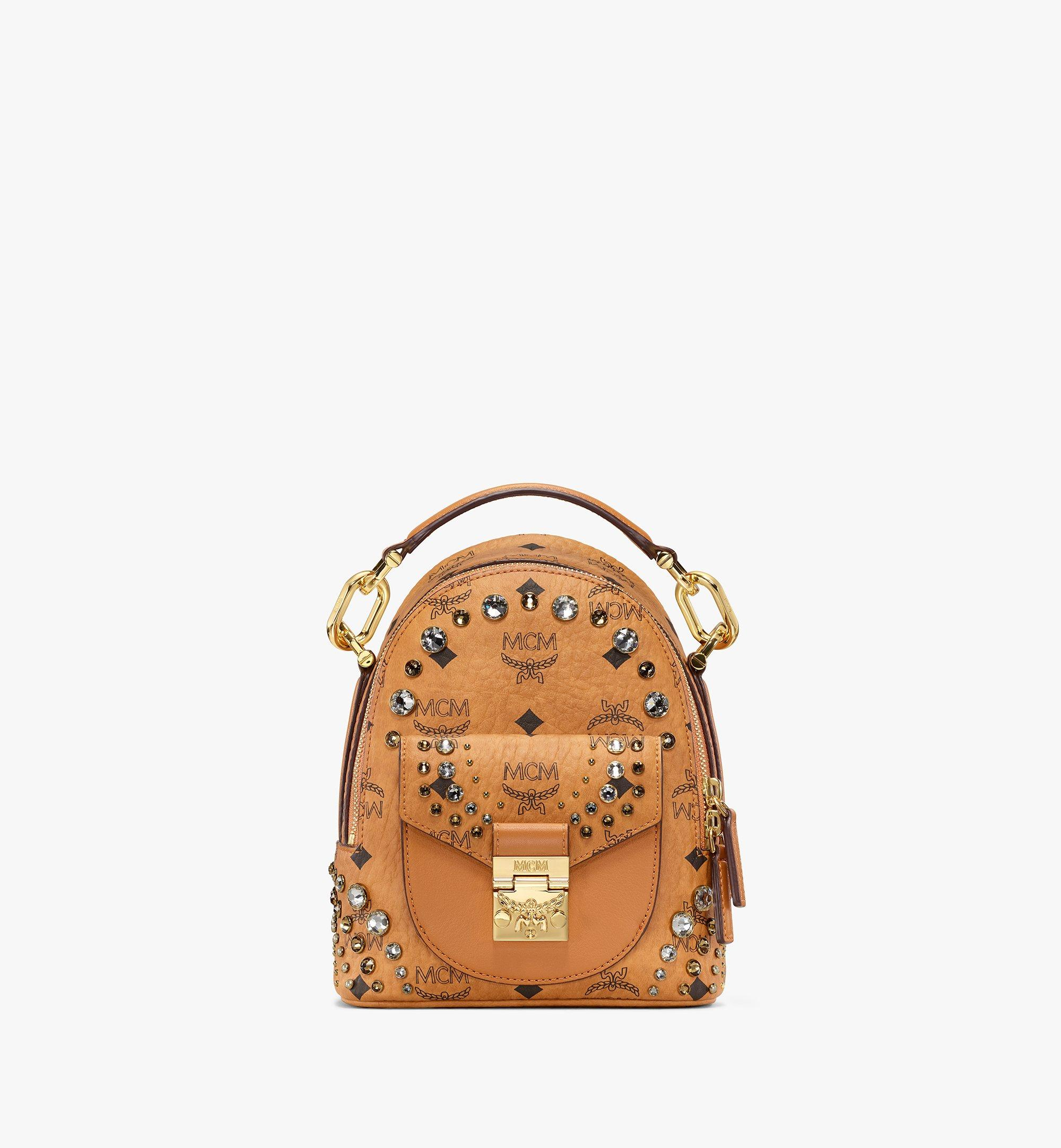 MCM Backpack in Crystal Visetos Cognac MWKBSVI01CO001 Alternate View 1