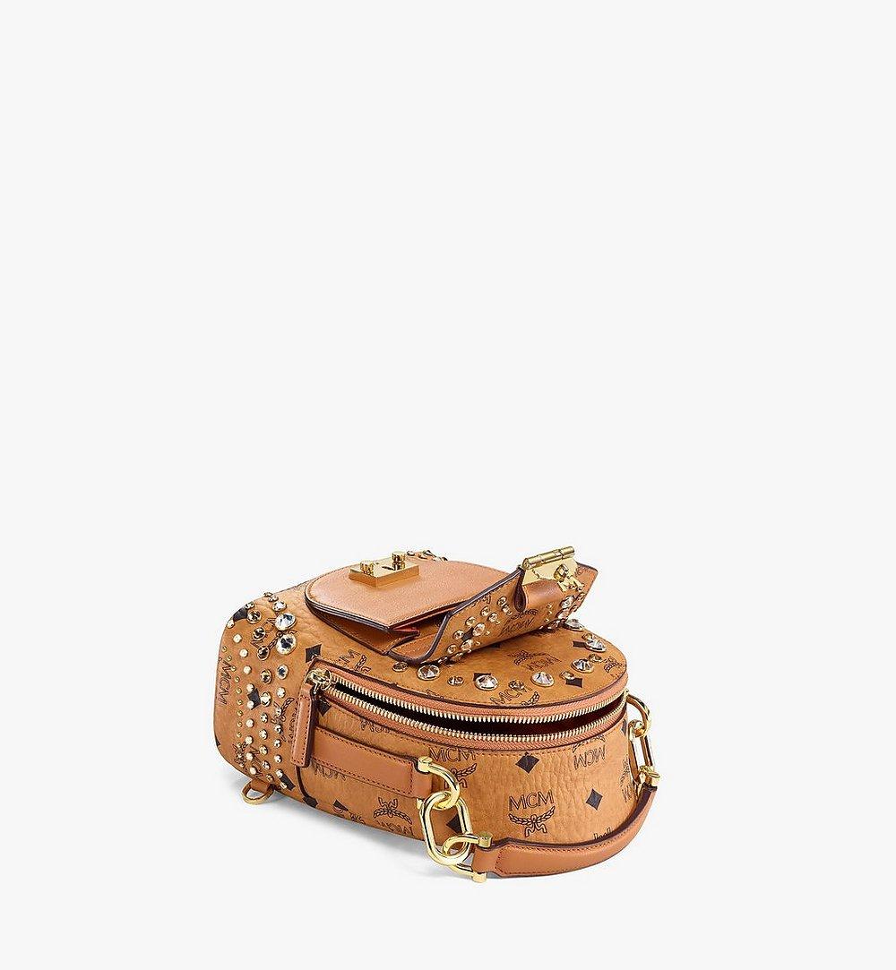 MCM Backpack in Crystal Visetos Cognac MWKBSVI01CO001 Alternate View 2