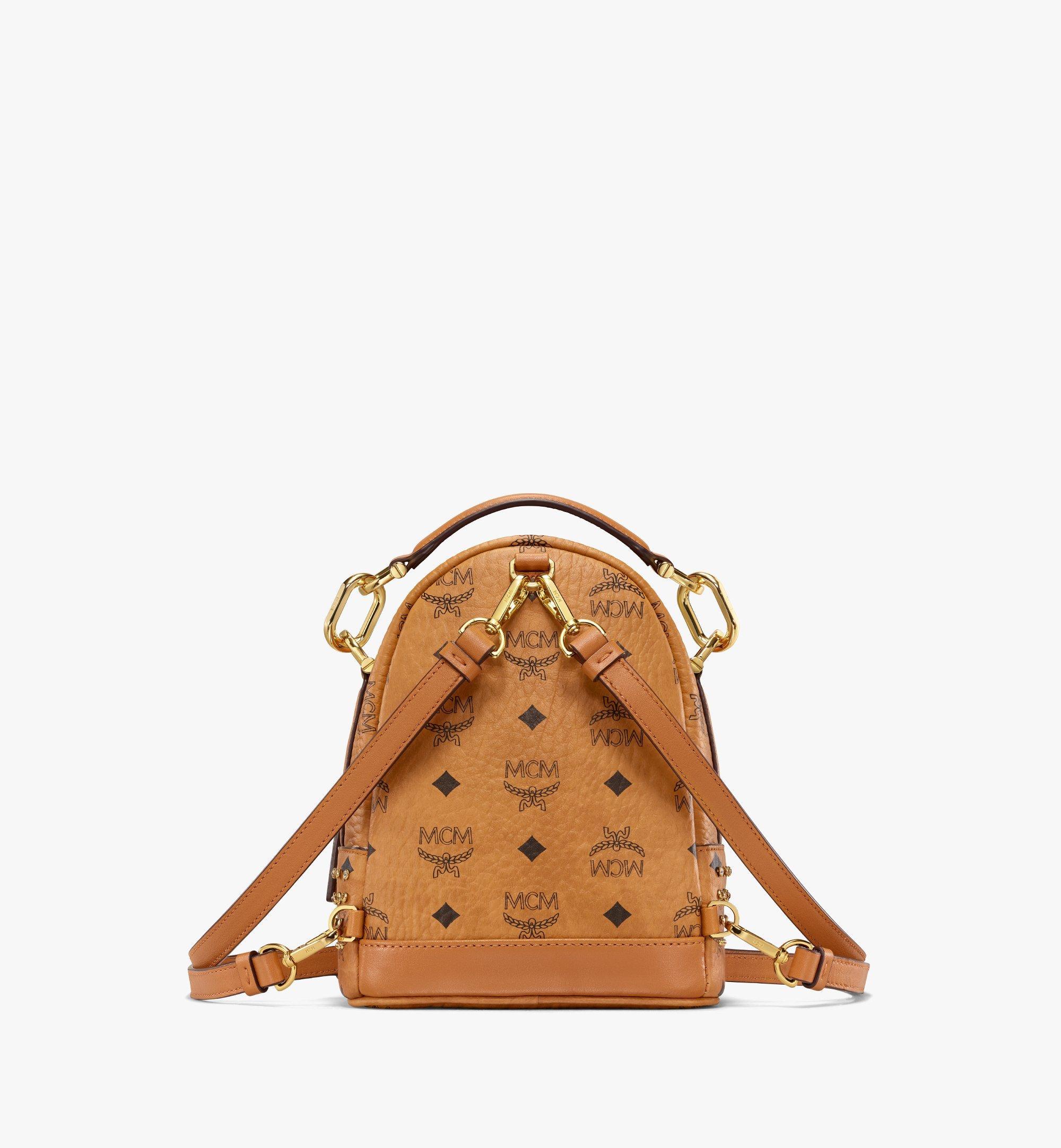 MCM Backpack in Crystal Visetos Cognac MWKBSVI01CO001 Alternate View 3