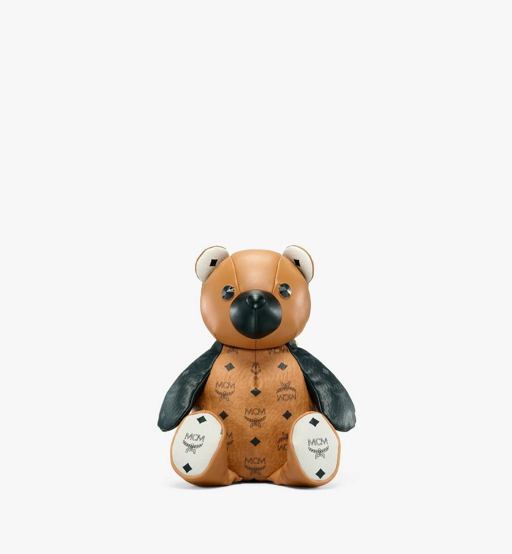 MCM Zoo Bear Backpack in Visetos Leather Mix 1