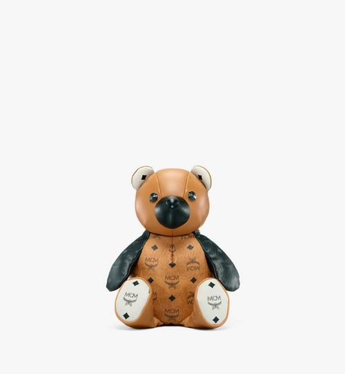 MCM Zoo Bear Backpack in Visetos Leather Mix