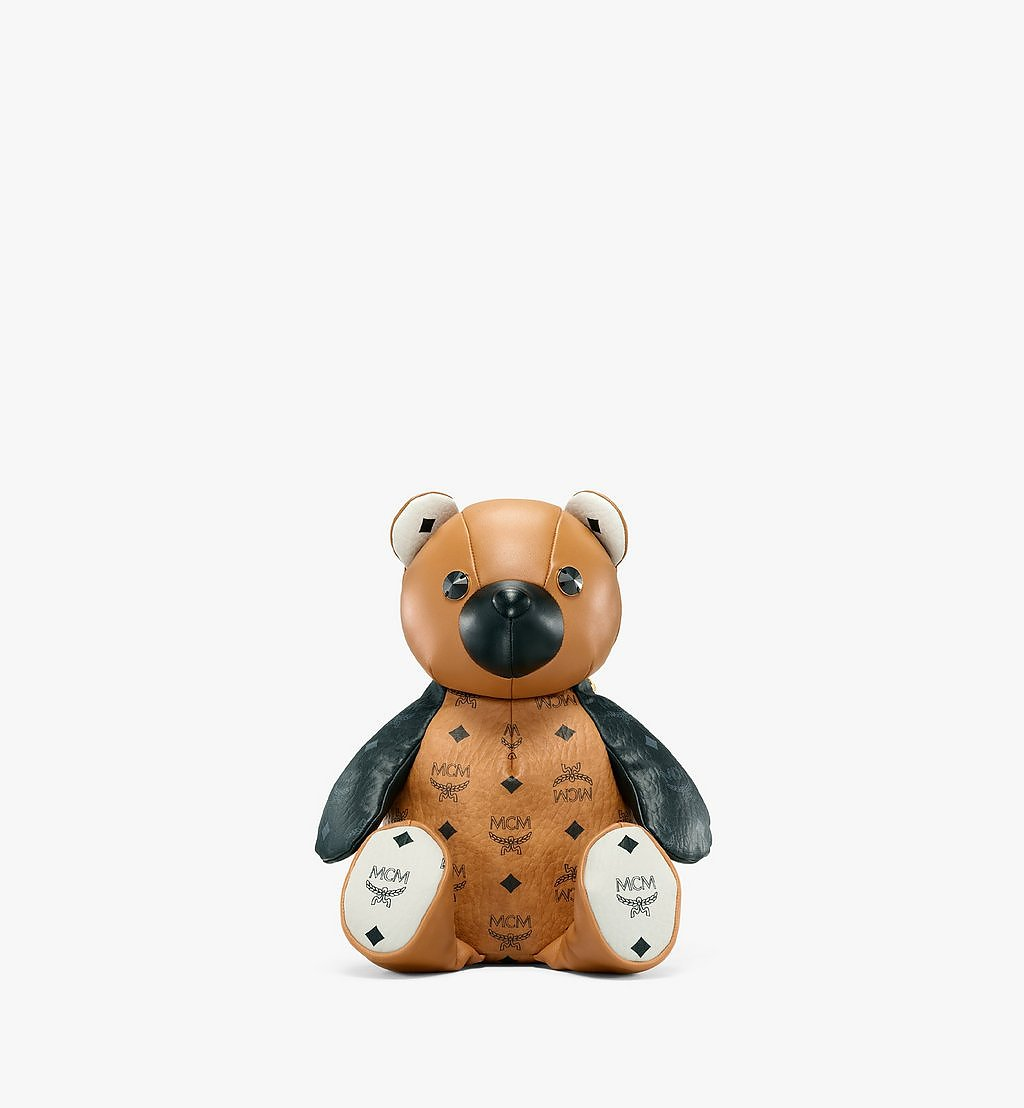 MCM MCM Zoo Bear Backpack in Visetos Leather Mix Cognac MWKBSXL01CO001 Alternate View 1