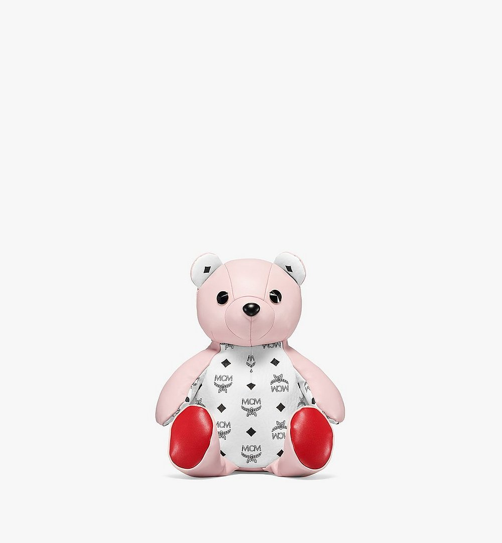 MCM MCM Zoo Bear Backpack in Visetos Leather Mix Pink MWKBSXL01QH001 Alternate View 1