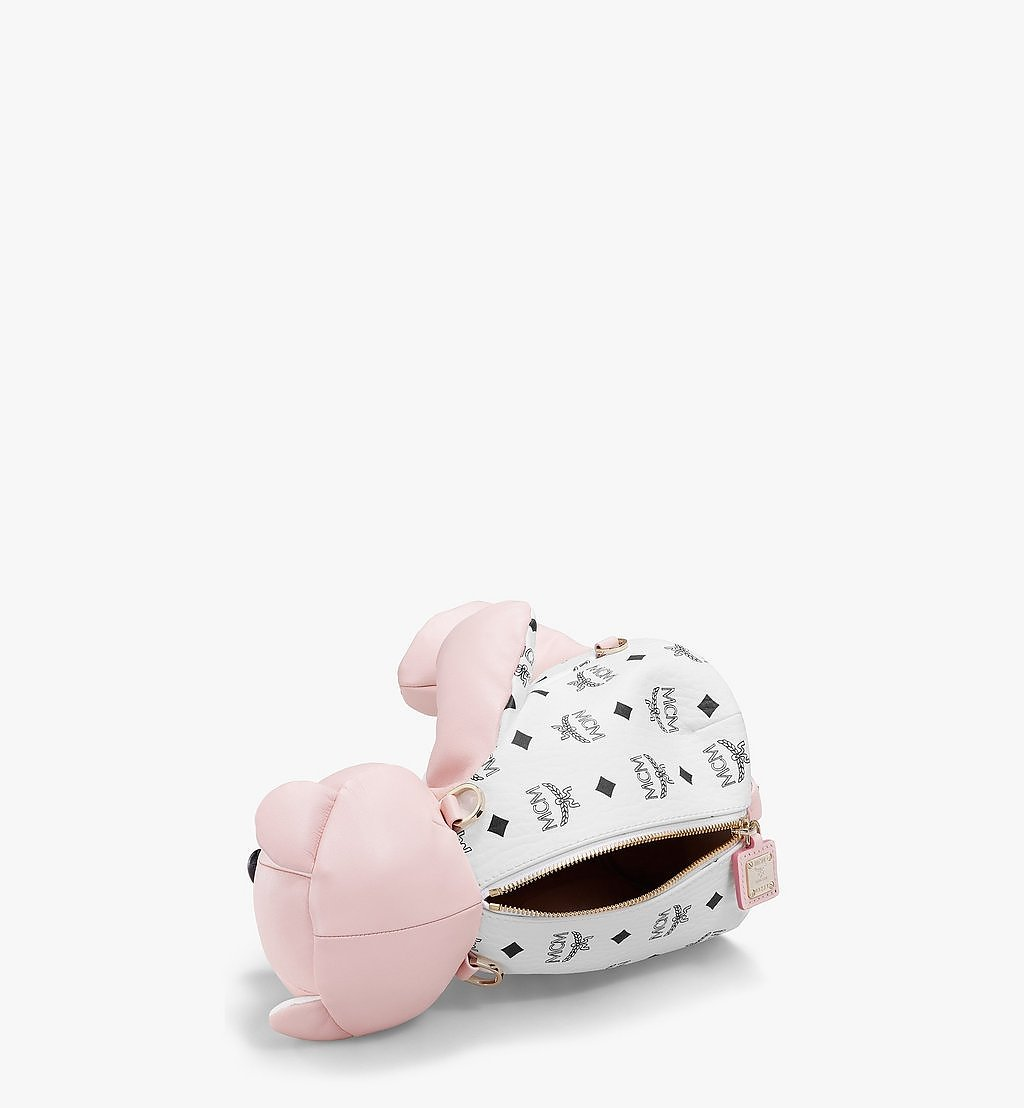 MCM MCM Zoo Bear Backpack in Visetos Leather Mix Pink MWKBSXL01QH001 Alternate View 2
