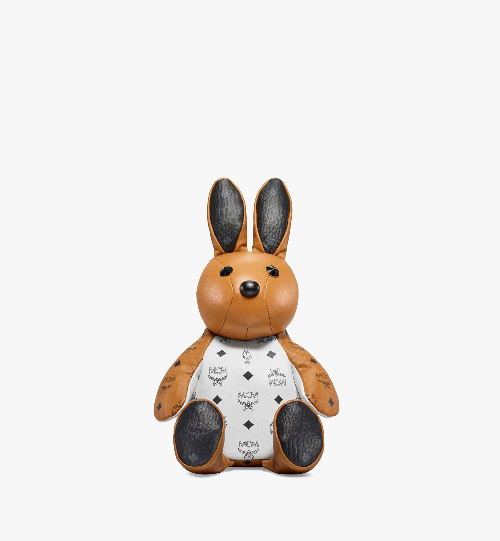 MCM MCM Zoo Rabbit Backpack in Visetos Leather Mix Cognac MWKBSXL02CO001 Alternate View 1