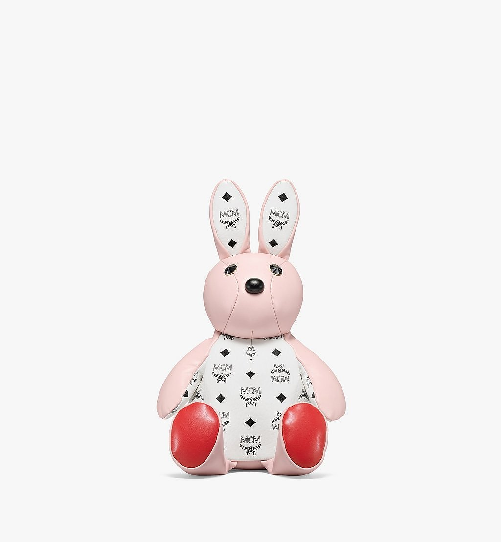 MCM MCM Zoo Rabbit Backpack in Visetos Leather Mix Pink MWKBSXL02QH001 Alternate View 1
