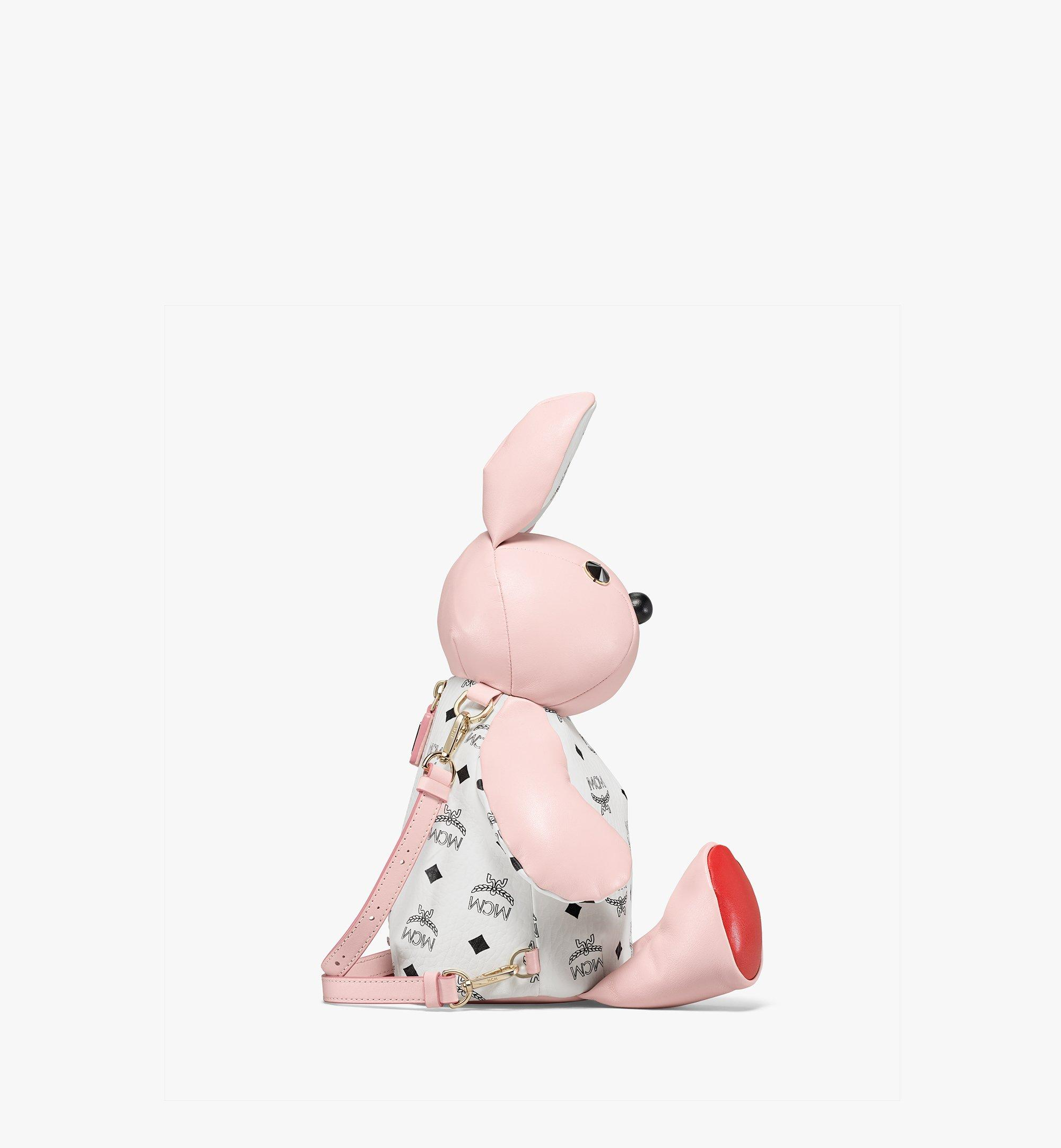 MCM Visetos 系列皮革混搭 MCM Zoo Rabbit 背包 Pink MWKBSXL02QH001 更多視圖 1