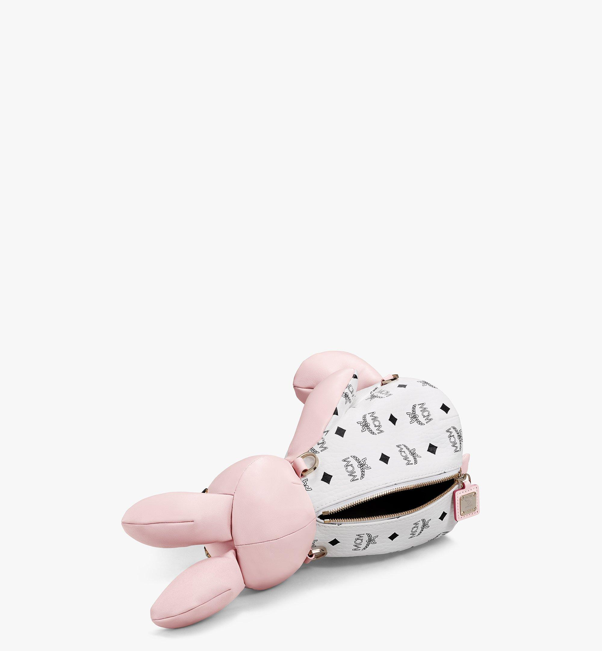 MCM MCM Zoo Rabbit Backpack in Visetos Leather Mix Pink MWKBSXL02QH001 Alternate View 2