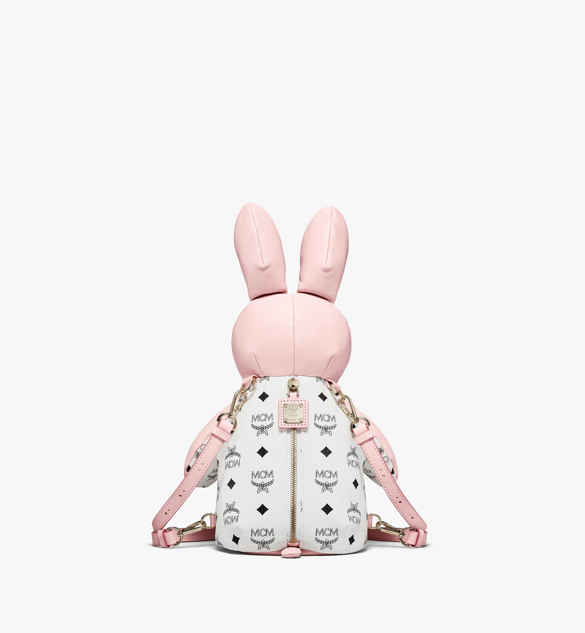 MCM MCM Zoo Rabbit Backpack in Visetos Leather Mix Pink MWKBSXL02QH001 Alternate View 3