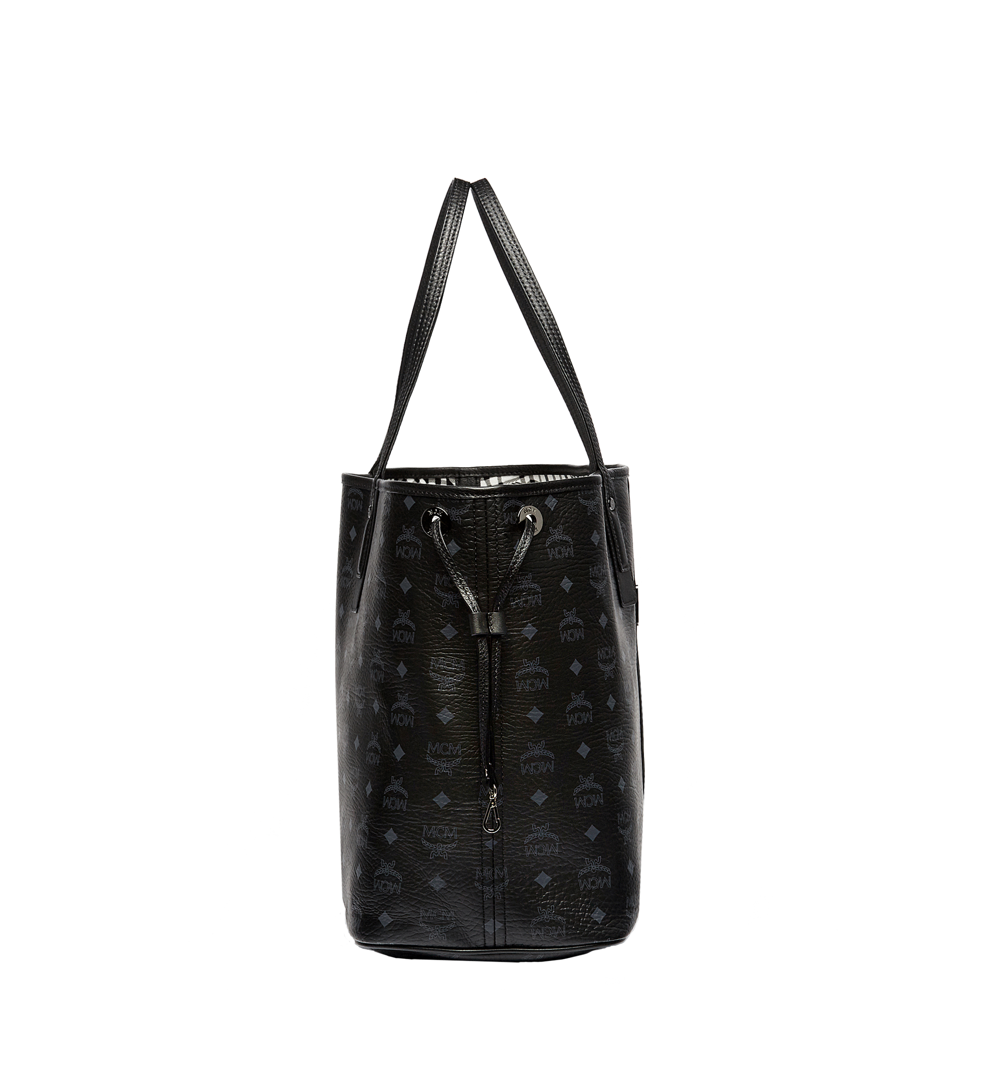 Large Reversible Liz Shopper in Visetos Black | MCM® DE
