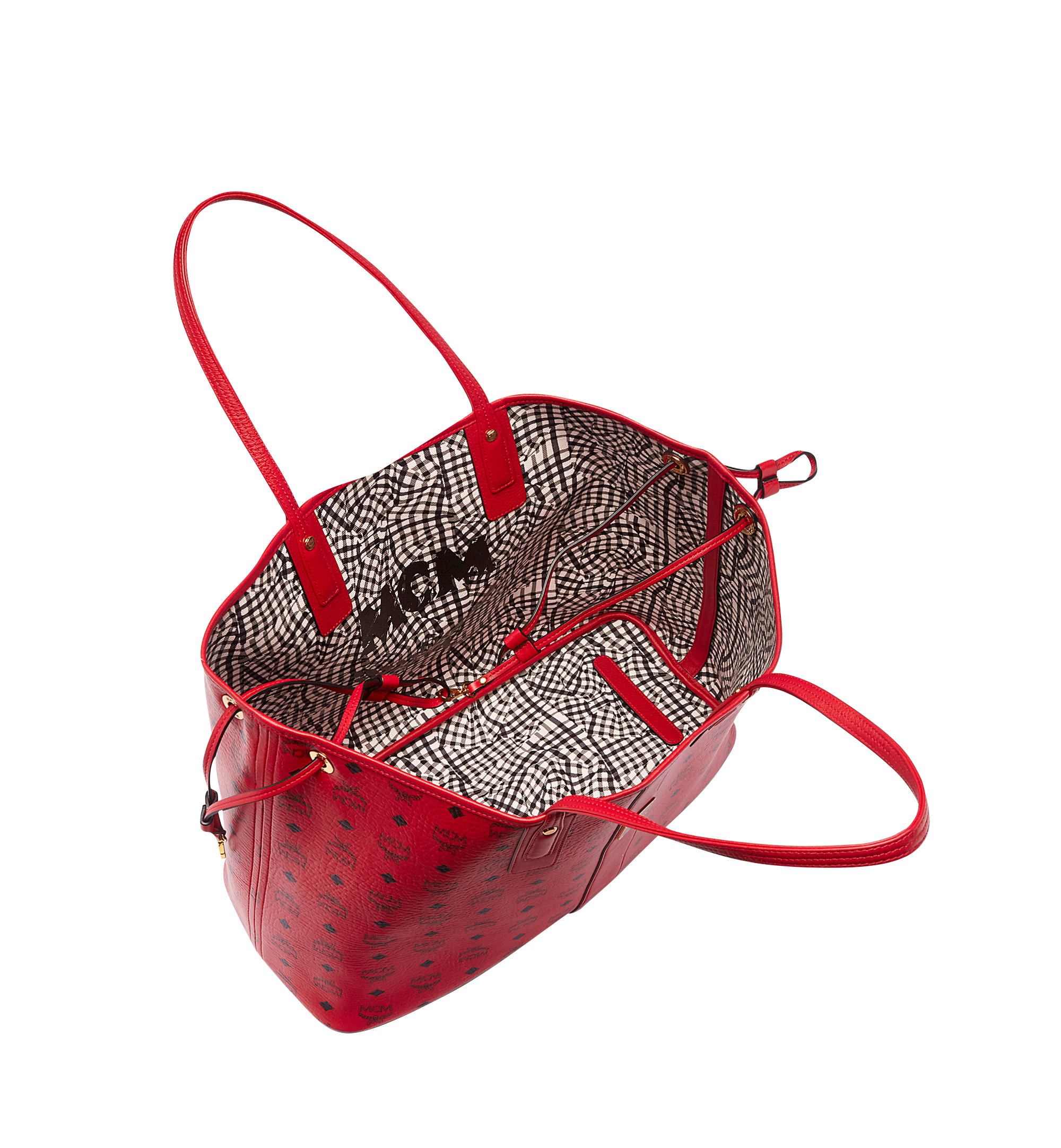 Large Reversible Liz Shopper in Visetos Ruby Red | MCM® DE