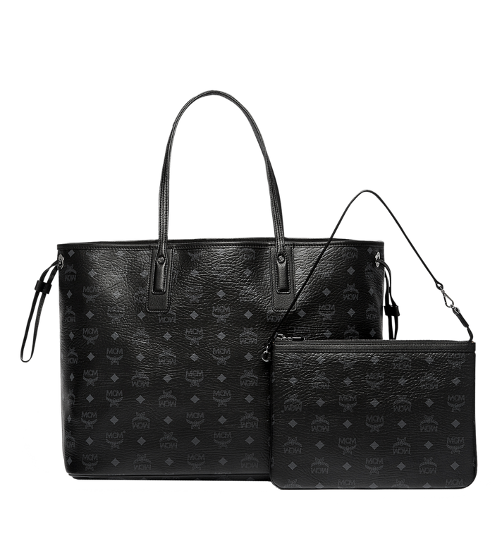 MCM Reversible Liz Shopper in Visetos Black MWP7AVI21BK001 Alternate View 4