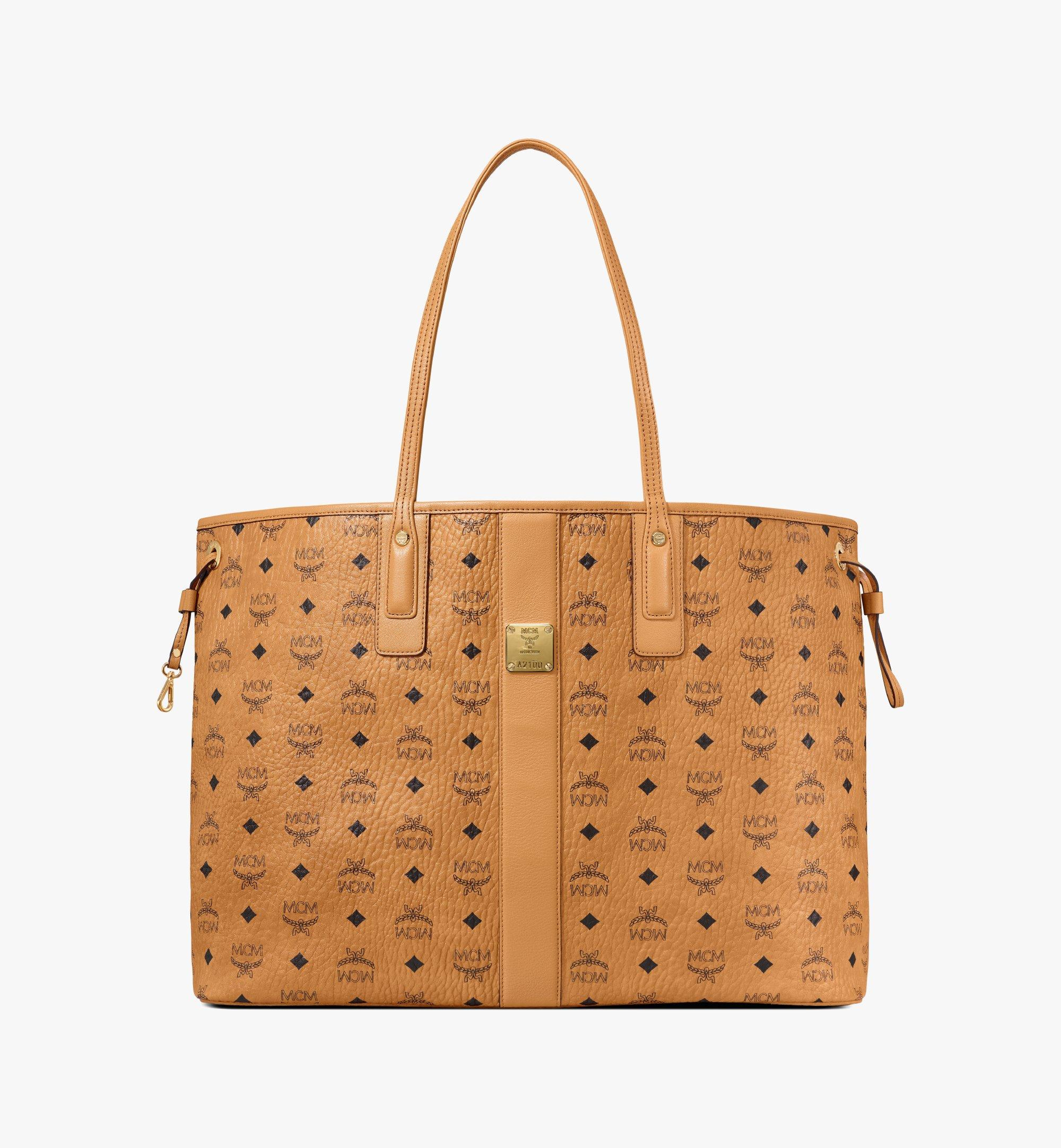 MCM Reversible Liz Shopper in Visetos Cognac MWP7AVI21CO001 Alternate View 1