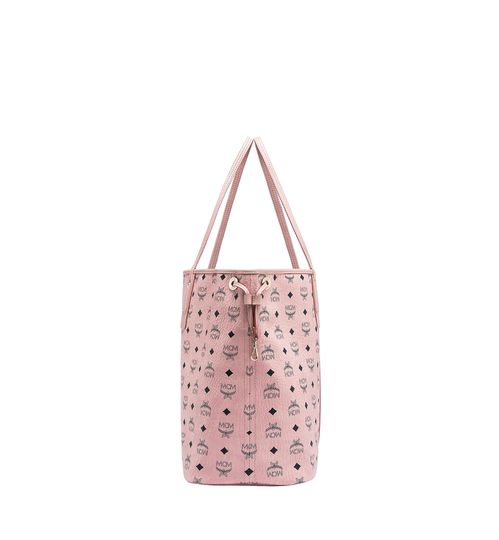 Large Reversible Liz Shopper in Visetos Soft Pink   MCM® DE