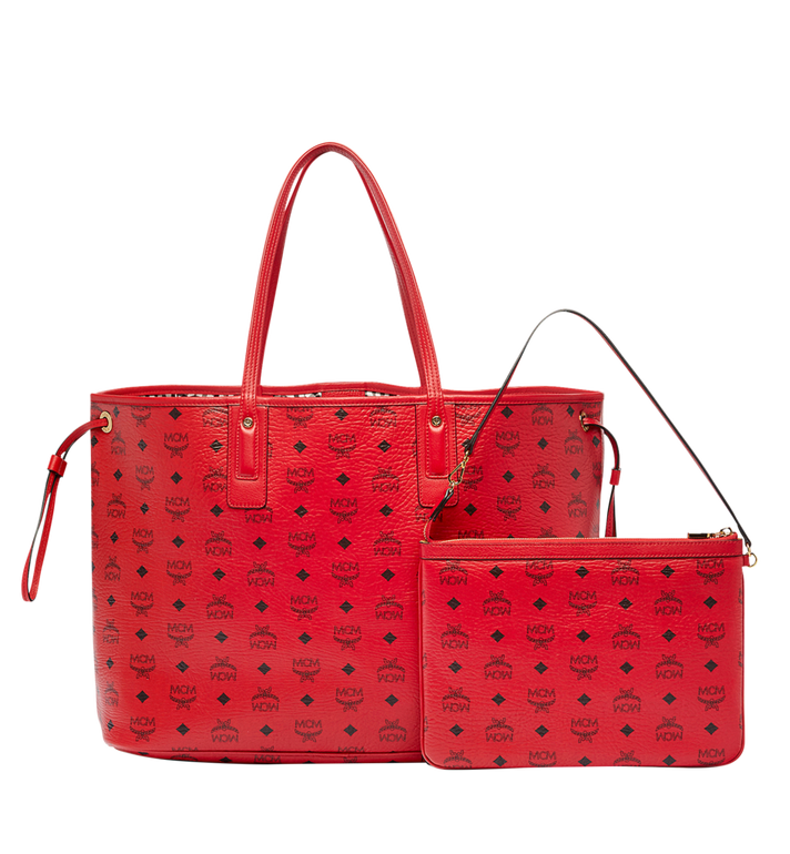 MCM Reversible Liz Shopper in Visetos Red MWP7AVI21RU001 Alternate View 4