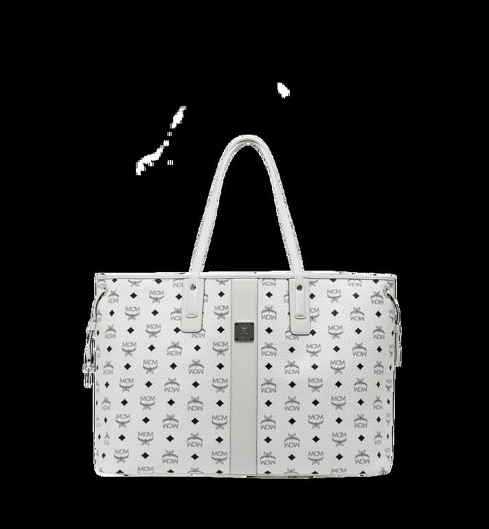 Large Reversible Liz Shopper in Visetos White | MCM® DE
