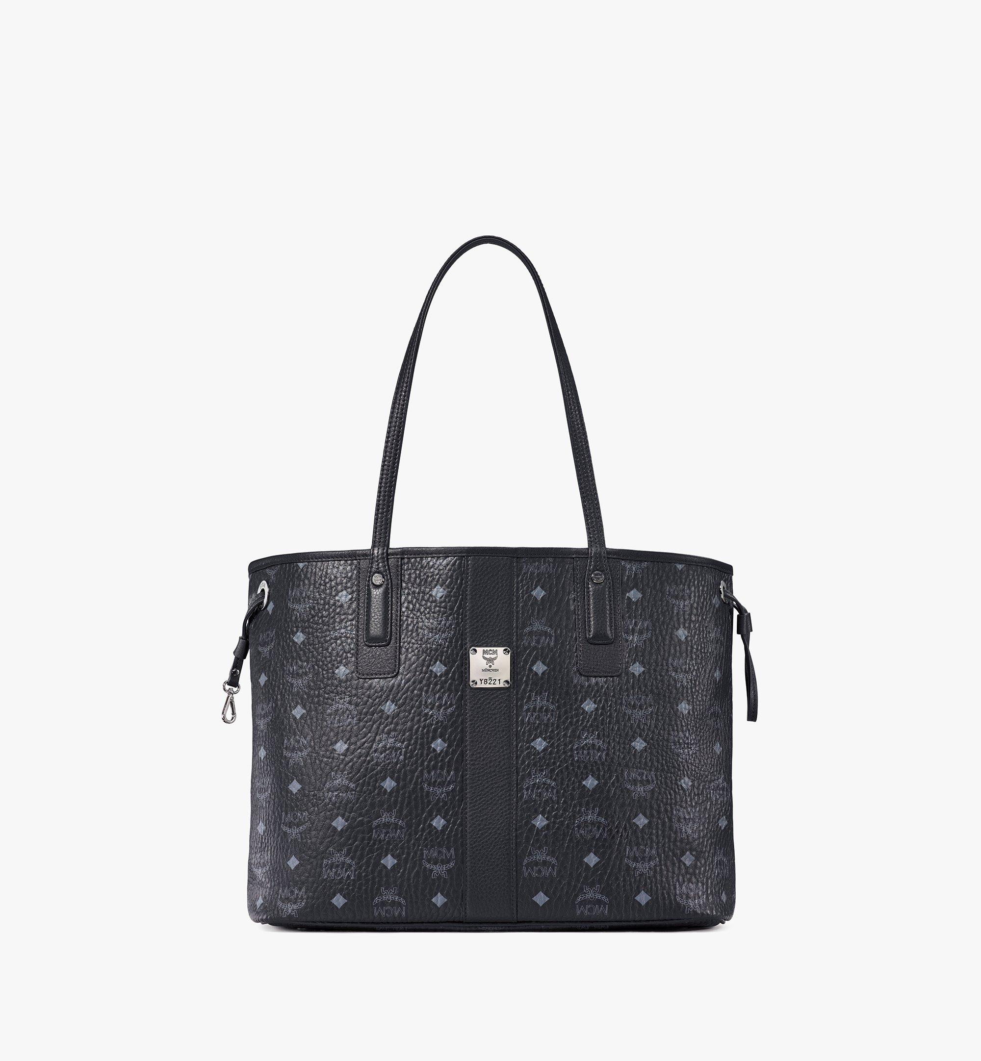 Medium Reversible Liz Shopper in Visetos Black | MCM® DE