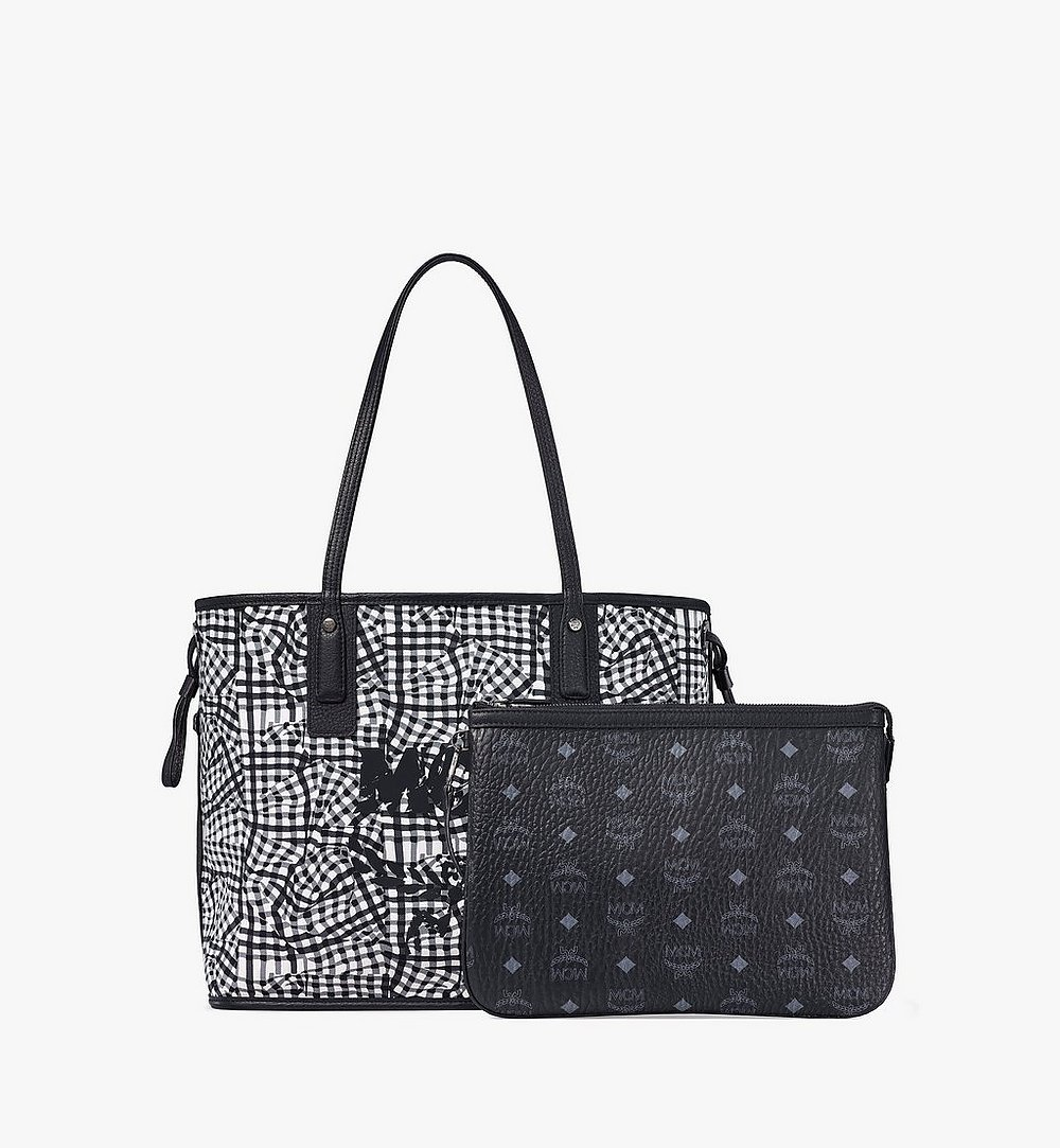 MCM Reversible Liz Shopper in Visetos Black MWP7AVI22BK001 Alternate View 4