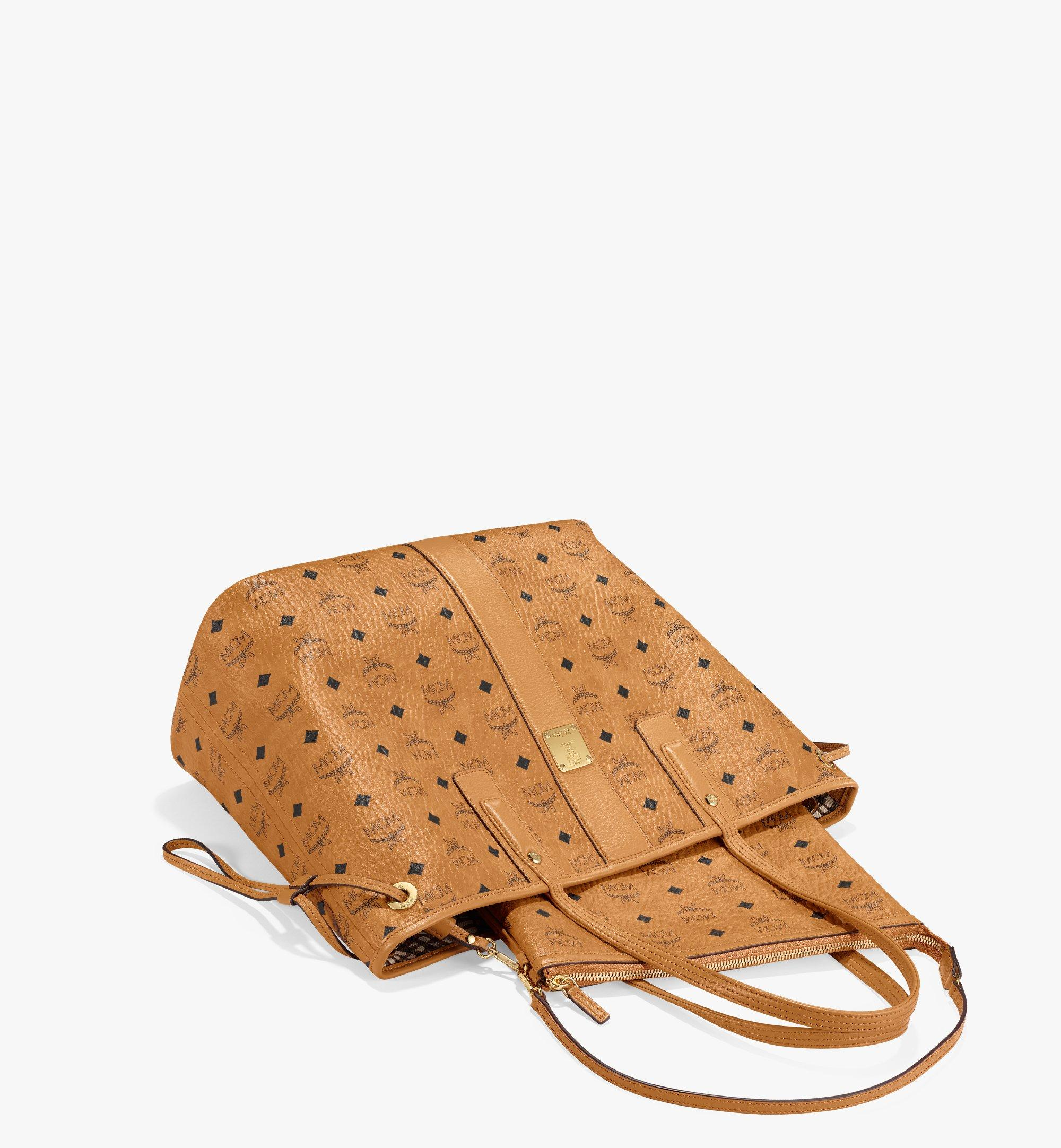 Medium Reversible Liz Shopper in Visetos Cognac | MCM® DE
