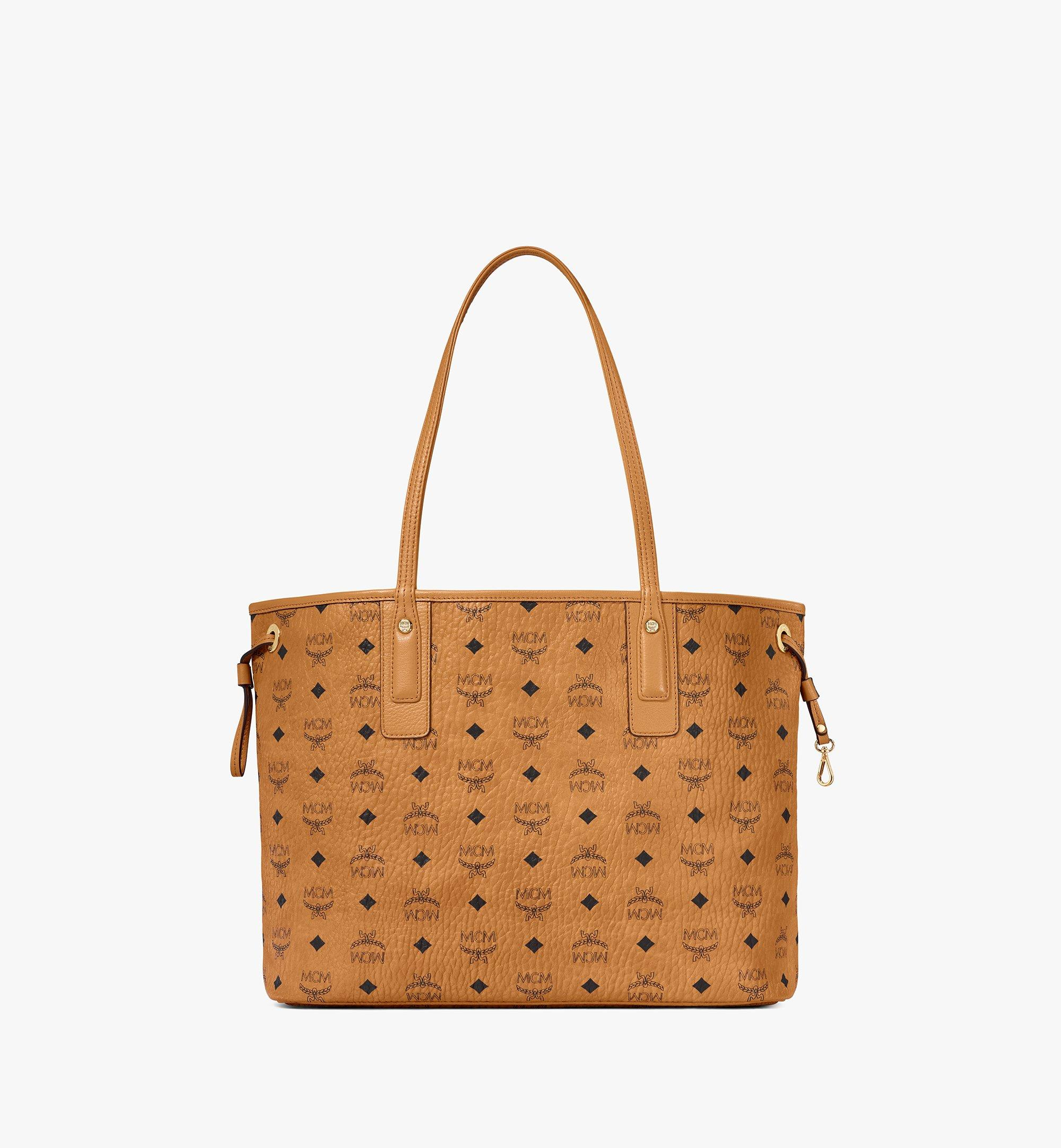 Medium Liz Wendeshopper in Visetos COGNAC | MCM® DE