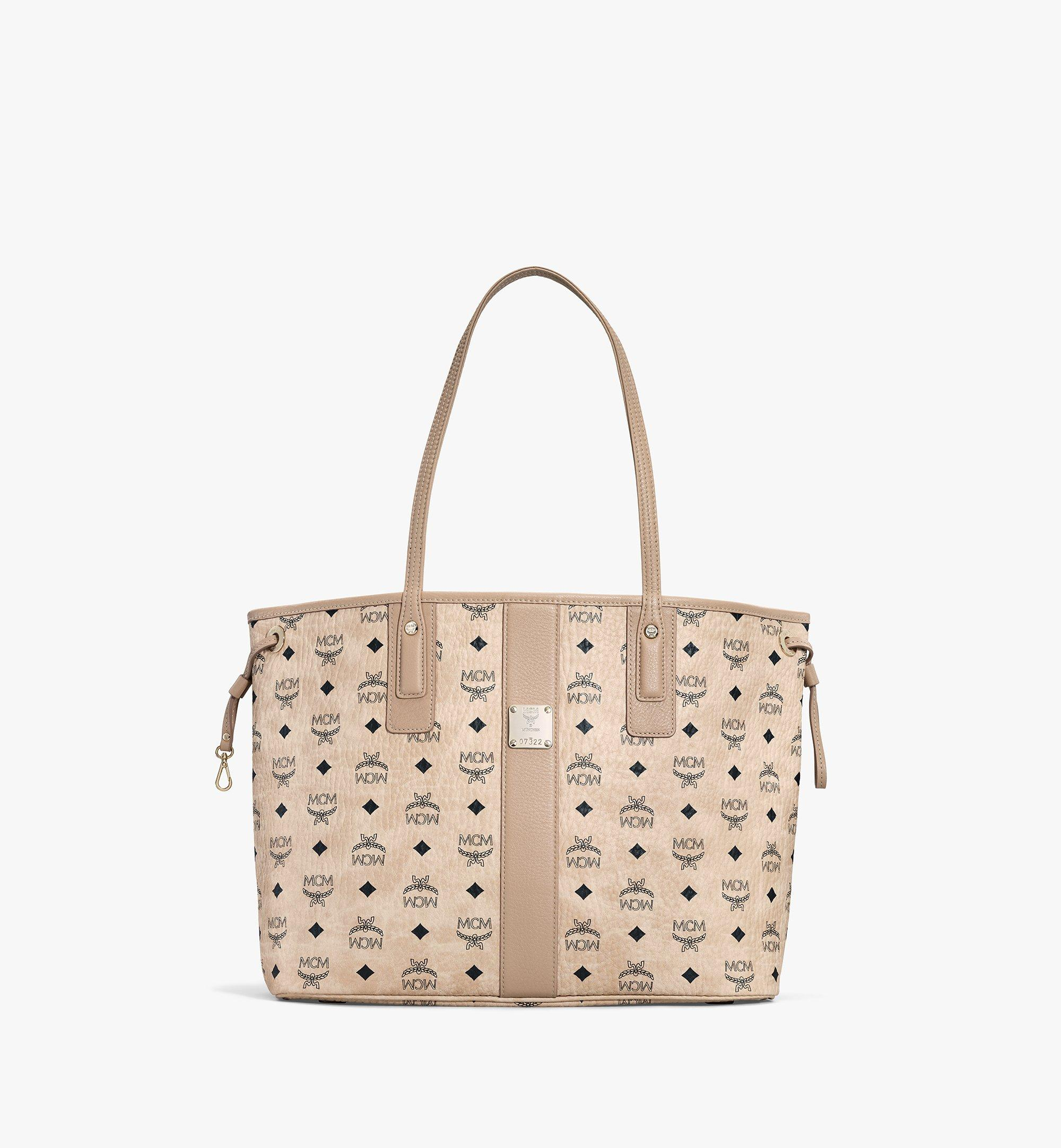 MCM Reversible Liz Shopper in Visetos Beige MWP7AVI22IG001 Alternate View 1