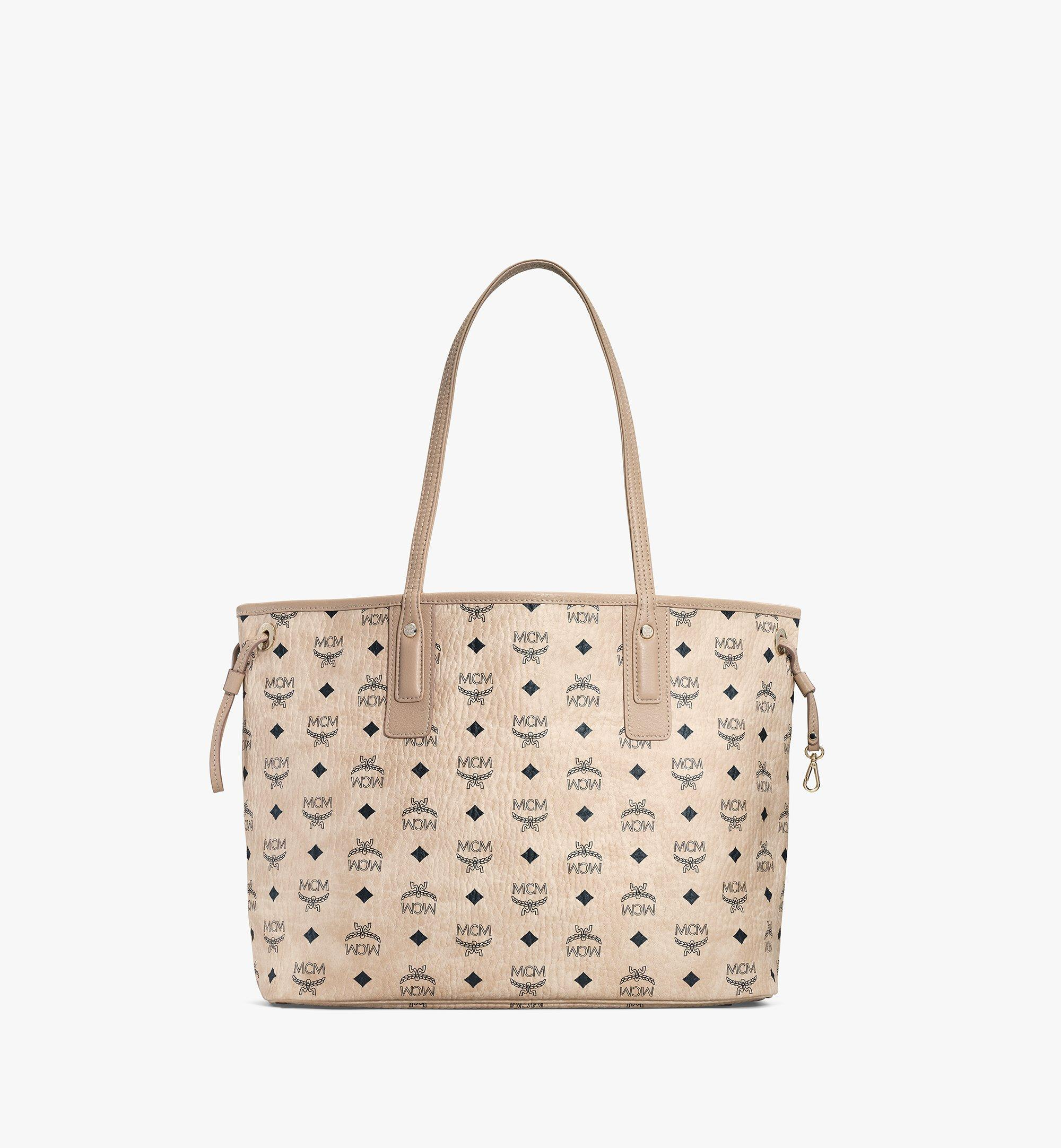 MCM Reversible Liz Shopper in Visetos Beige MWP7AVI22IG001 Alternate View 4