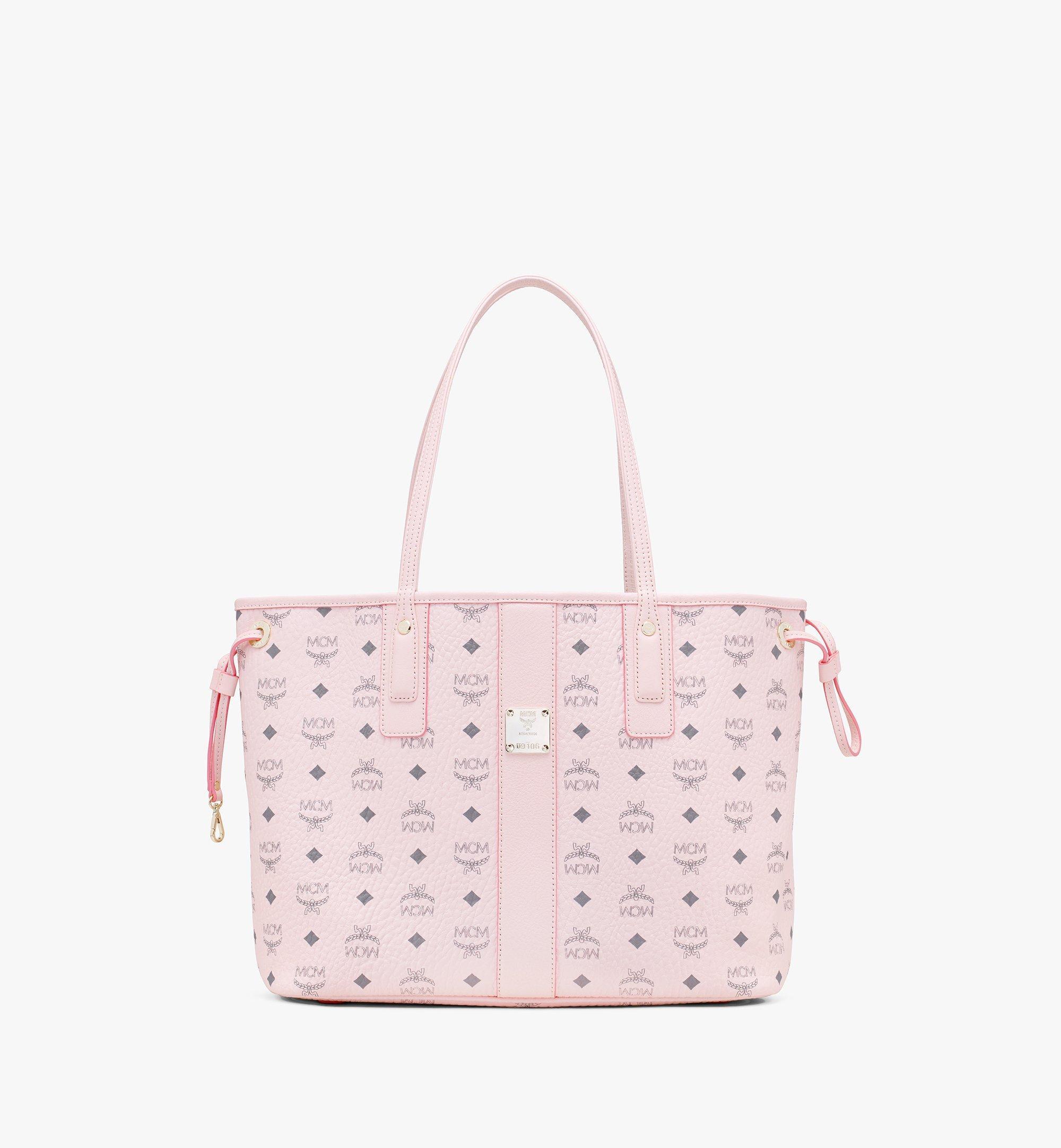 MCM Reversible Liz Shopper in Visetos Pink MWP7AVI22QH001 Alternate View 1