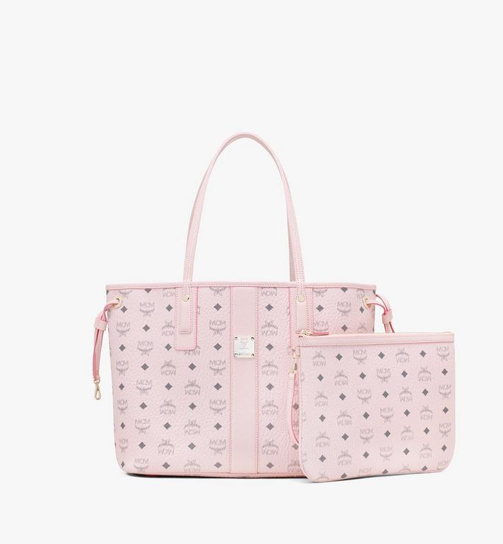 MCM Liz Reversible Shopper in Visetos Pink MWP7AVI22QH001 Alternate View 2