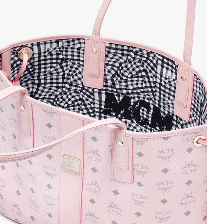 MCM Liz Reversible Shopper in Visetos Pink MWP7AVI22QH001 Alternate View 5