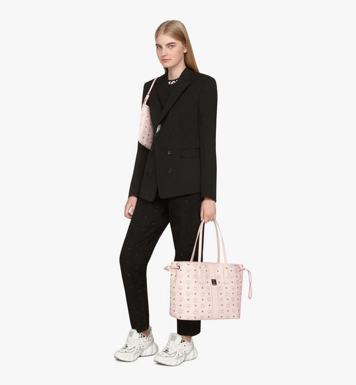 MCM Liz Reversible Shopper in Visetos Pink MWP7AVI22QH001 Alternate View 7