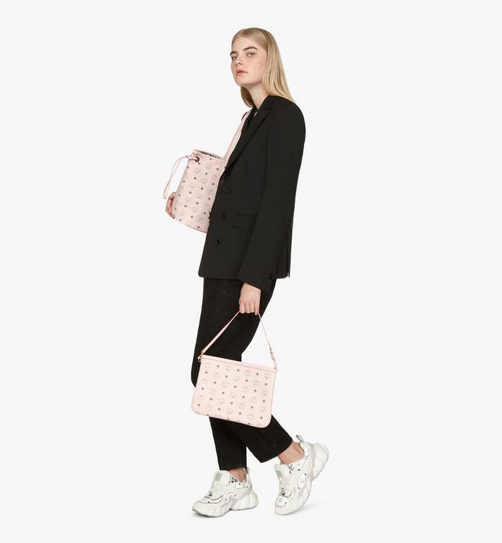 MCM Liz Reversible Shopper in Visetos Pink MWP7AVI22QH001 Alternate View 8