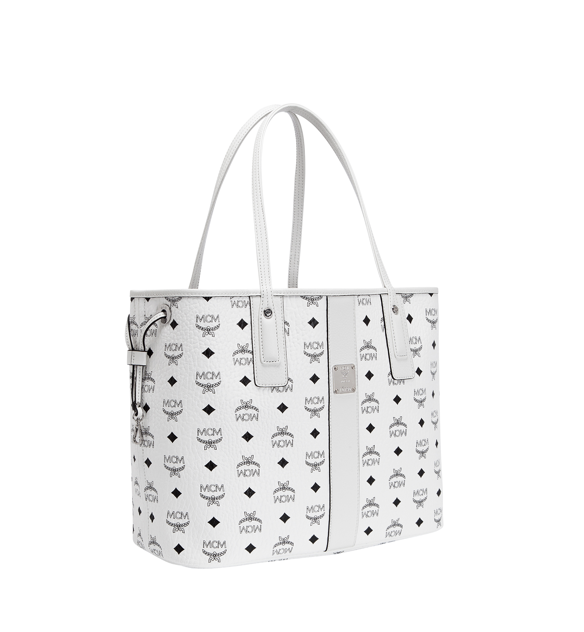 MCM Reversible Liz Shopper in Visetos White MWP7AVI22WT001 Alternate View 1