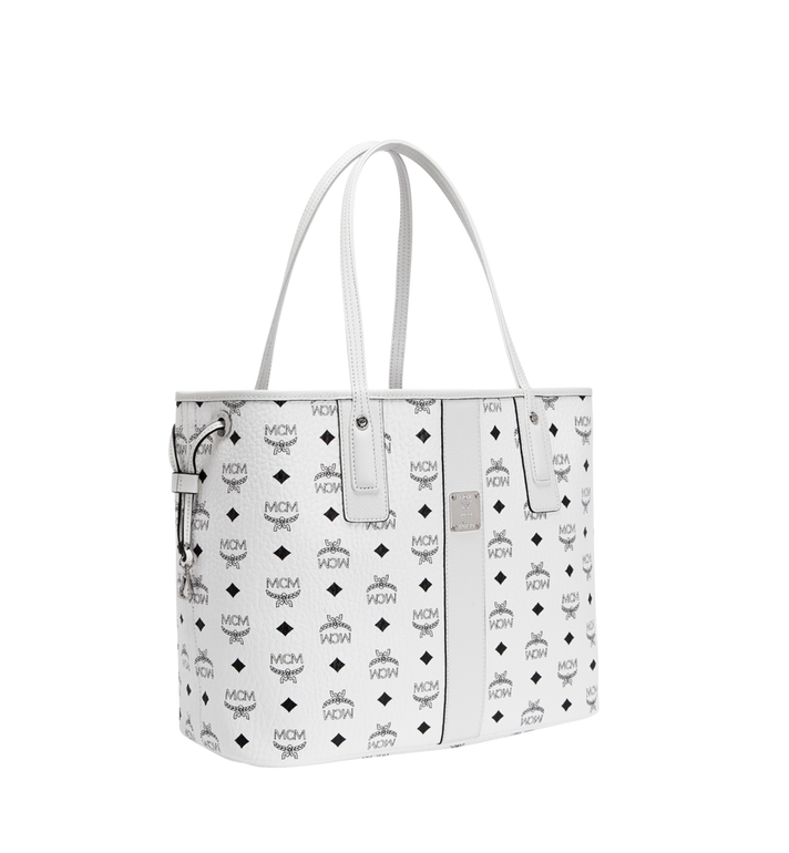 MCM Reversible Liz Shopper in Visetos White MWP7AVI22WT001 Alternate View 2