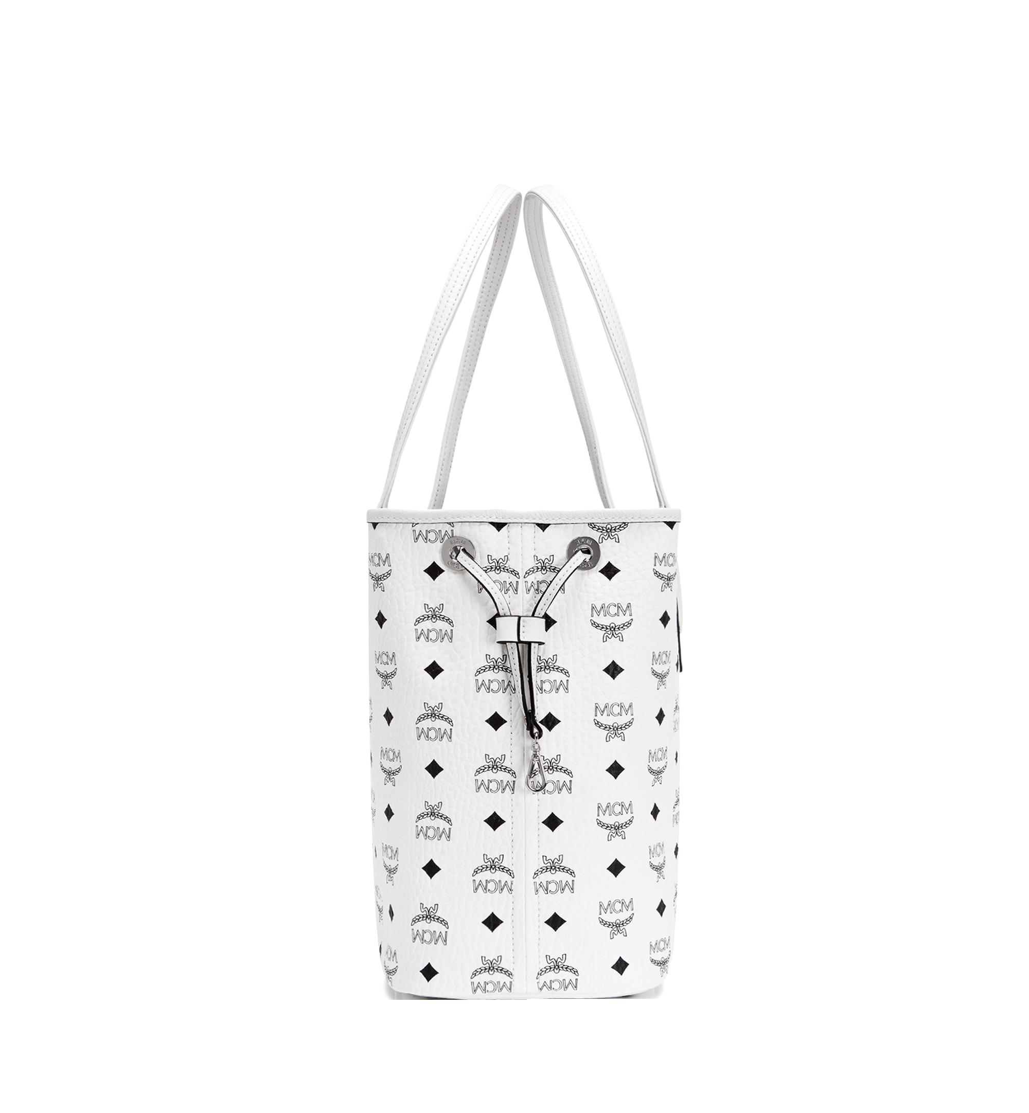 Medium Reversible Liz Shopper in Visetos White | MCM® DE