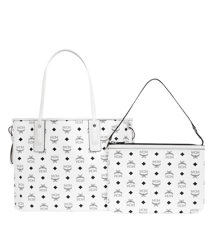 MCM Reversible Liz Shopper in Visetos White MWP7AVI22WT001 Alternate View 4