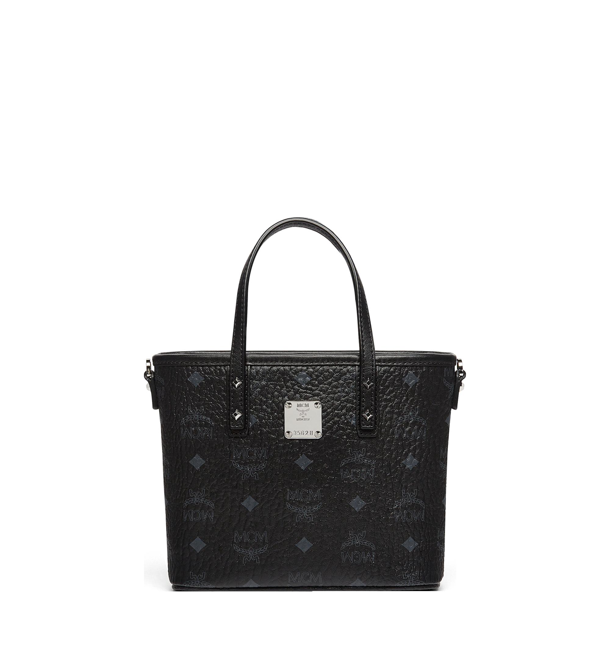 Mini Anya Shopper mit Reissverschluss in Visetos Black | MCM® DE