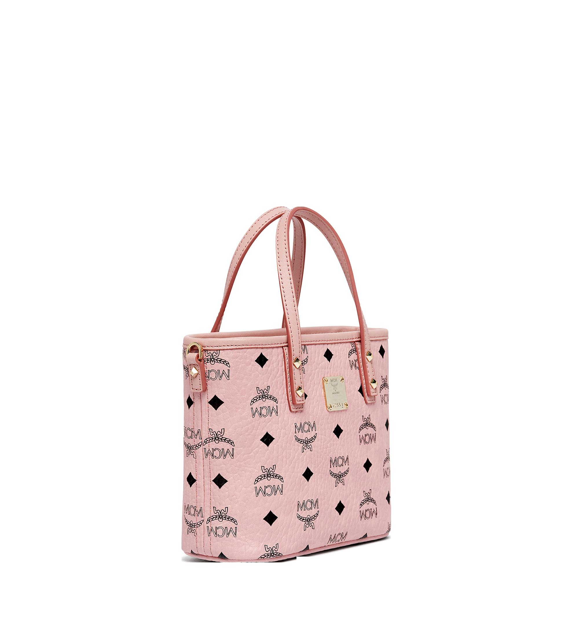 Mini Anya Shopper mit Reissverschluss in Visetos Rosa | MCM® DE