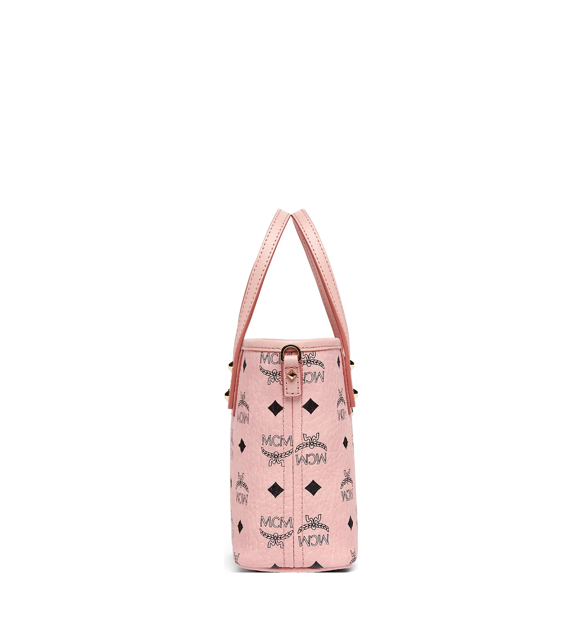 Mini Anya Shopper mit Reissverschluss in Visetos Rosa   MCM® DE