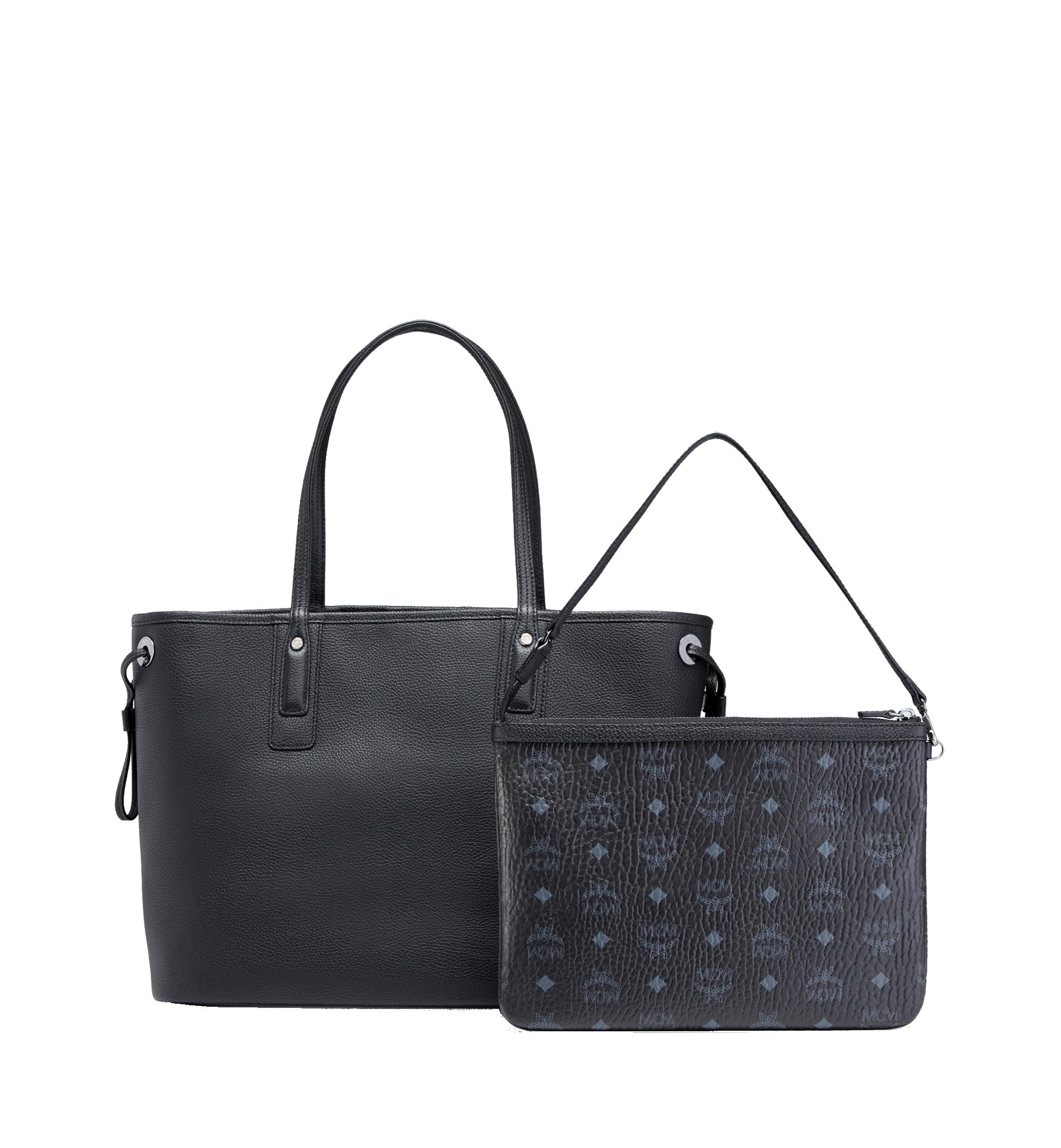 Medium Reversible Liz Shopper in Leather Black | MCM® DE