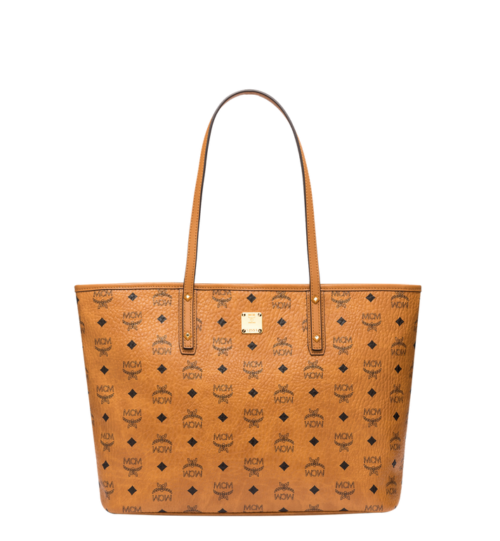 99f1534d5 Medium Anya Top Zip Shopper in Visetos Cognac | MCM