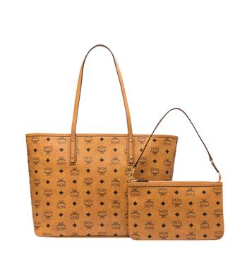 MCM Anya Shopper mit Reissverschluss in Visetos AlternateView4