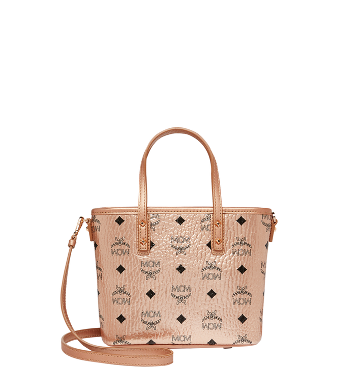 MCM Anya Top Zip Shopper in Visetos Alternate View 4
