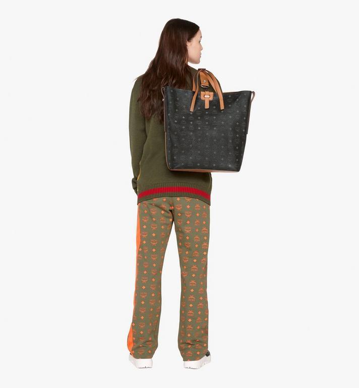 MCM Gunta Shopper in Visetos Black MWP9AGU01BK001 Alternate View 6