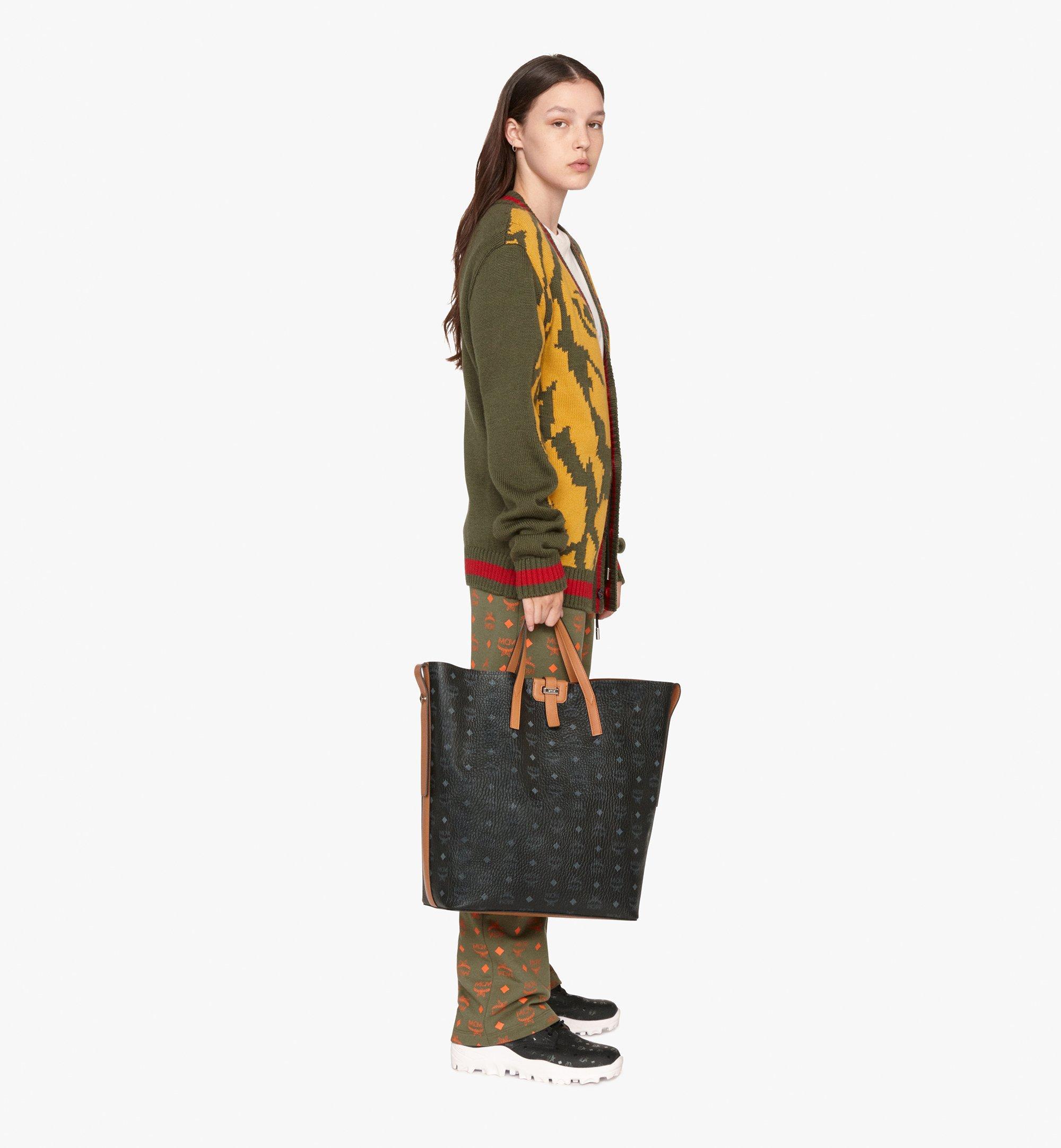 MCM Gunta Shopper in Visetos Black MWP9AGU01BK001 Alternate View 5