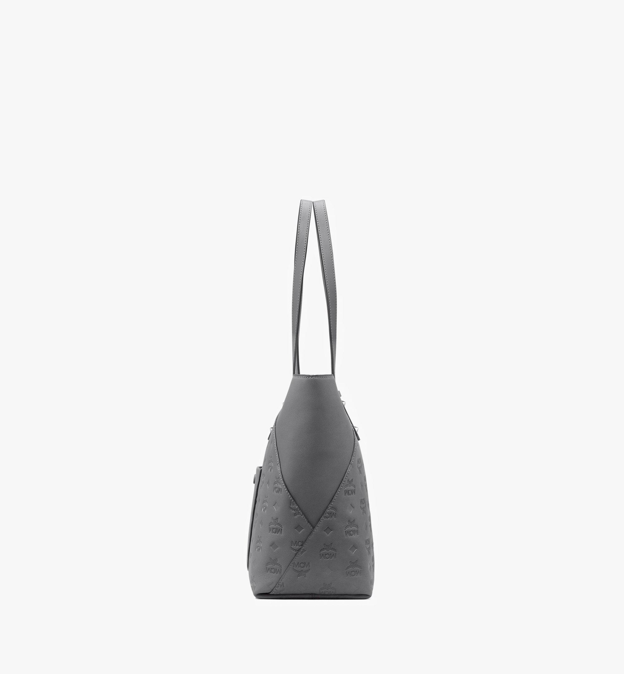 Medium Klara Shopper aus Leder mit Monogramm Charcoal | MCM® DE