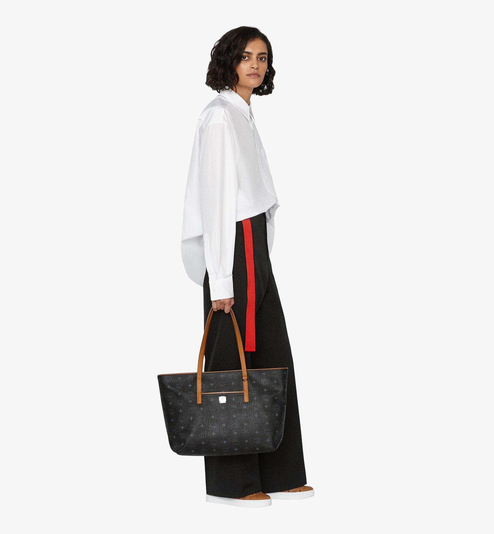 MCM Anya Shopper in Visetos Black MWP9AVI61BK001 Alternate View 2